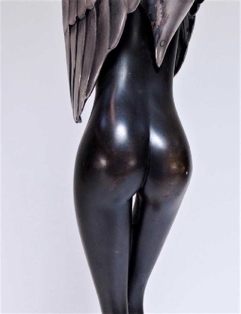Bruno Bruni Leda Col Cigno Bronze Sculpture - 6