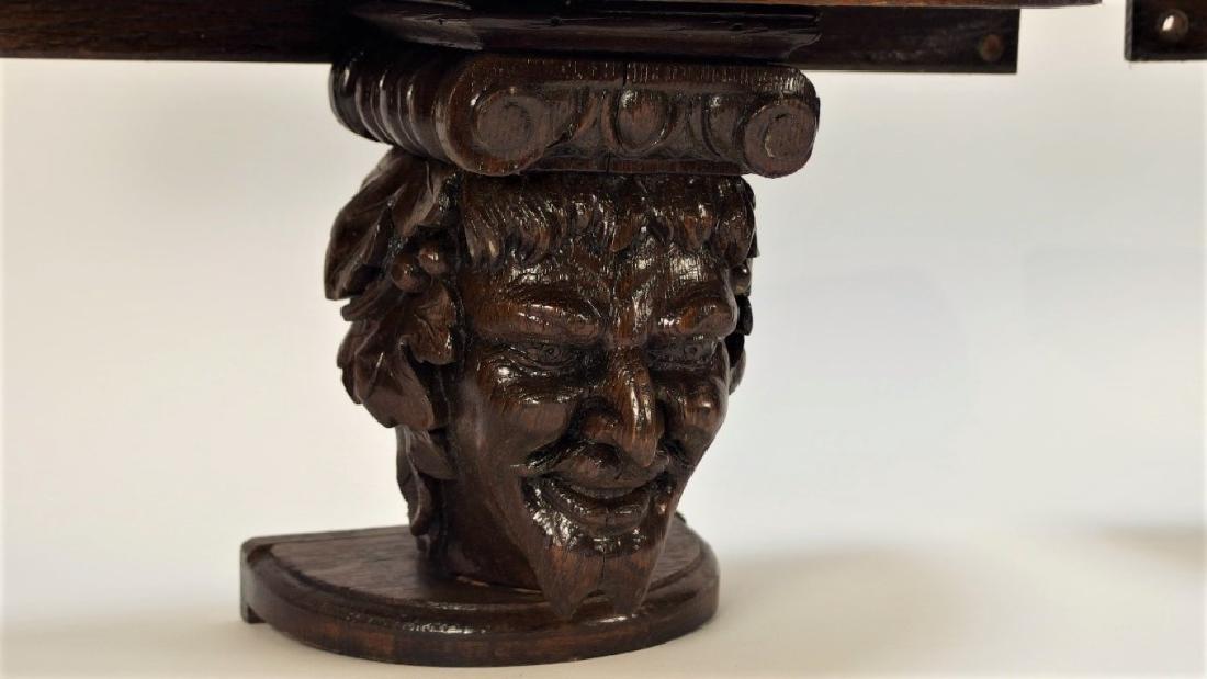 Pr. Victorian Gothic Figural Devil Head Shelves - 2