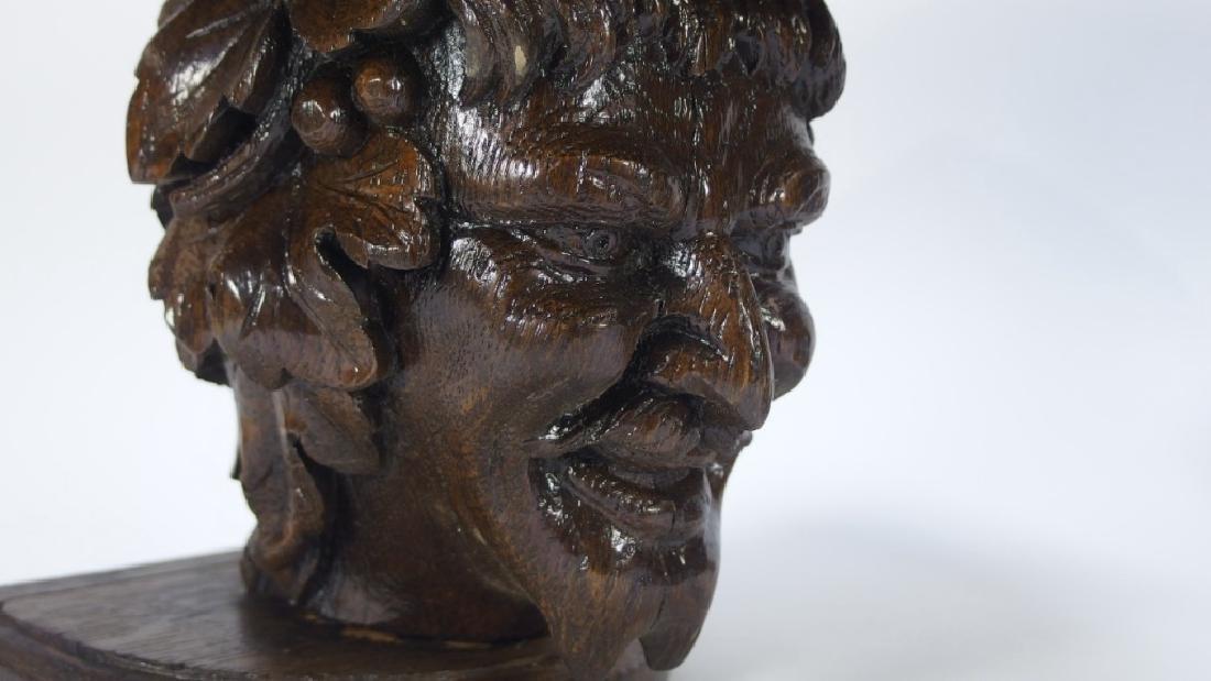 Pr. Victorian Gothic Figural Devil Head Shelves - 5