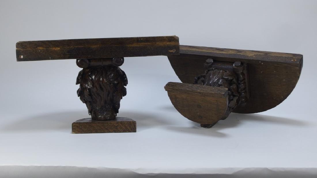 Pr. Victorian Gothic Figural Devil Head Shelves - 6