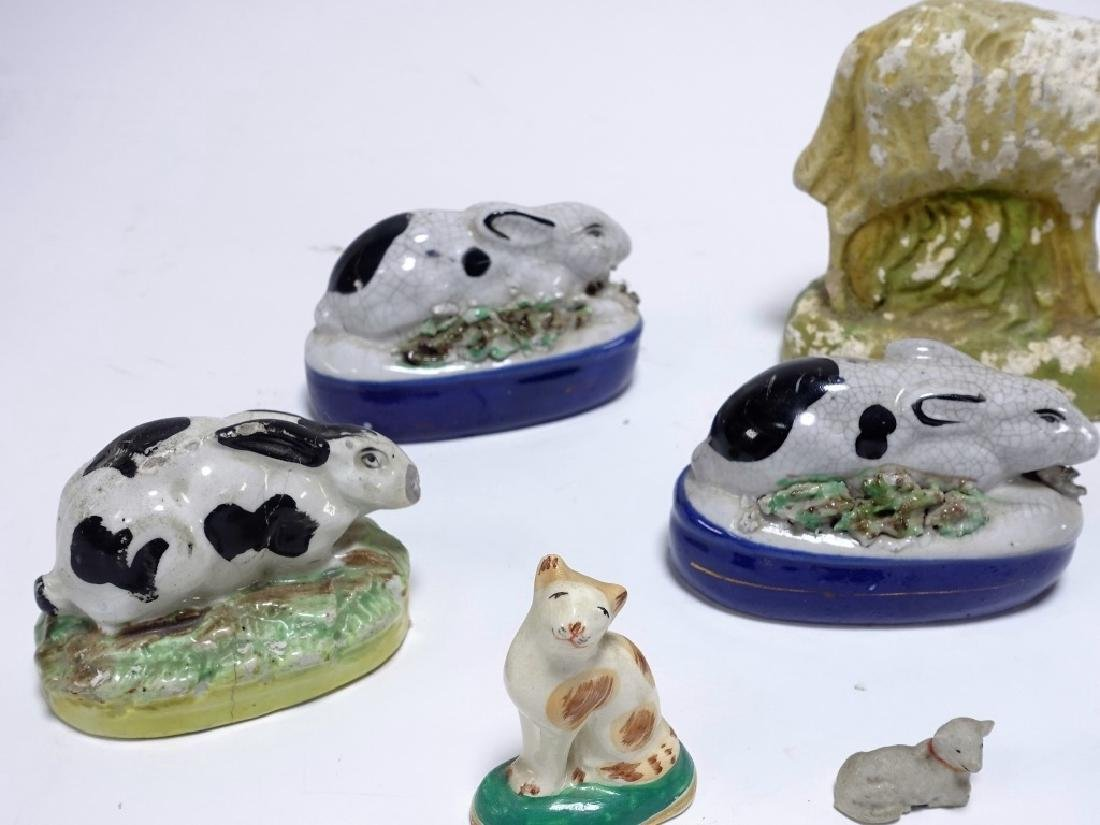 11 Late 18C. English Staffordshire Pottery Animals - 2