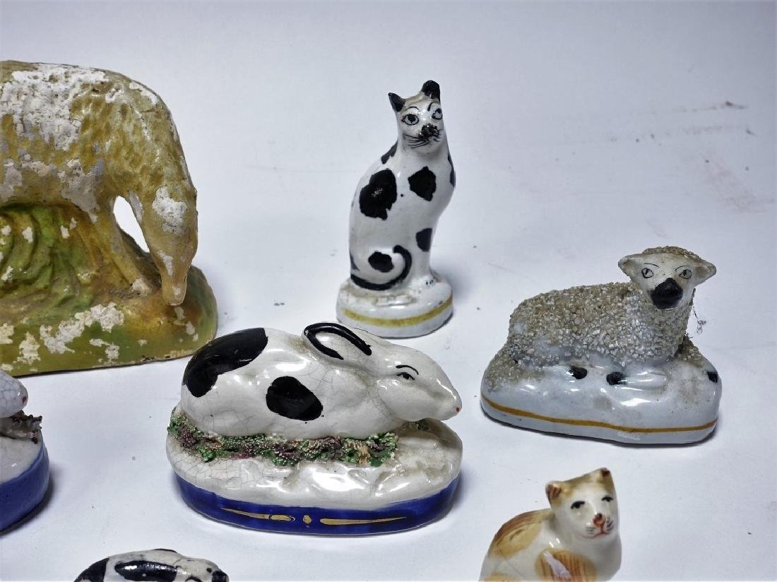 11 Late 18C. English Staffordshire Pottery Animals - 3