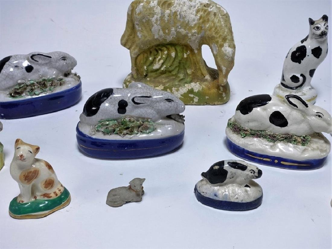 11 Late 18C. English Staffordshire Pottery Animals - 4