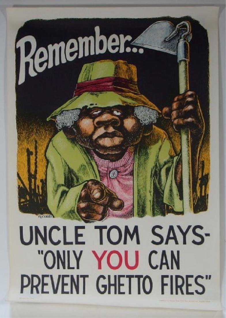 Ron Cobb Uncle Tom Ghetto Fires Poster