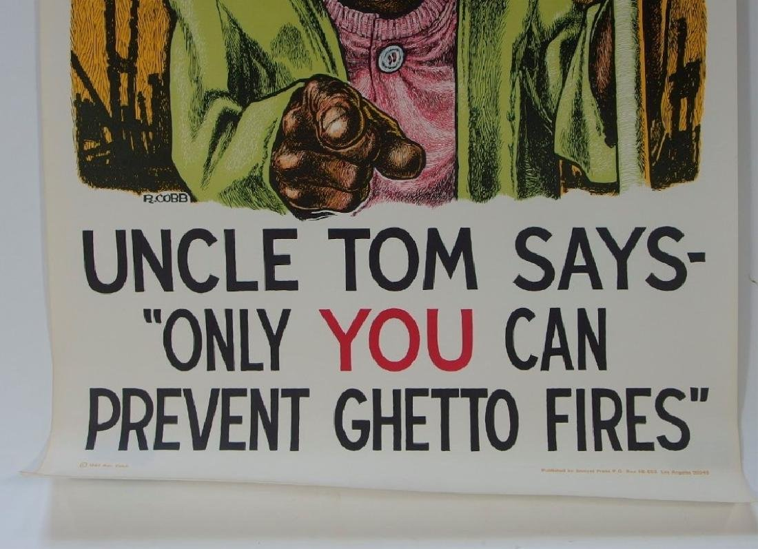 Ron Cobb Uncle Tom Ghetto Fires Poster - 3