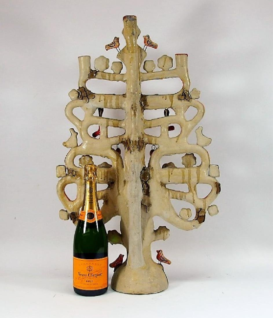 Attrib Aurelio Flores Mexican Pottery Tree of Life - 10