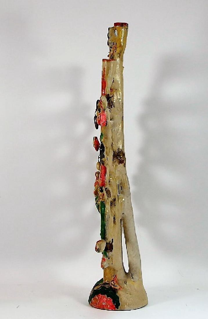 Attrib Aurelio Flores Mexican Pottery Tree of Life - 2