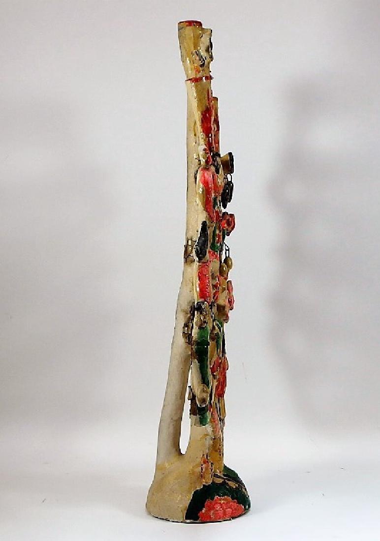 Attrib Aurelio Flores Mexican Pottery Tree of Life - 4