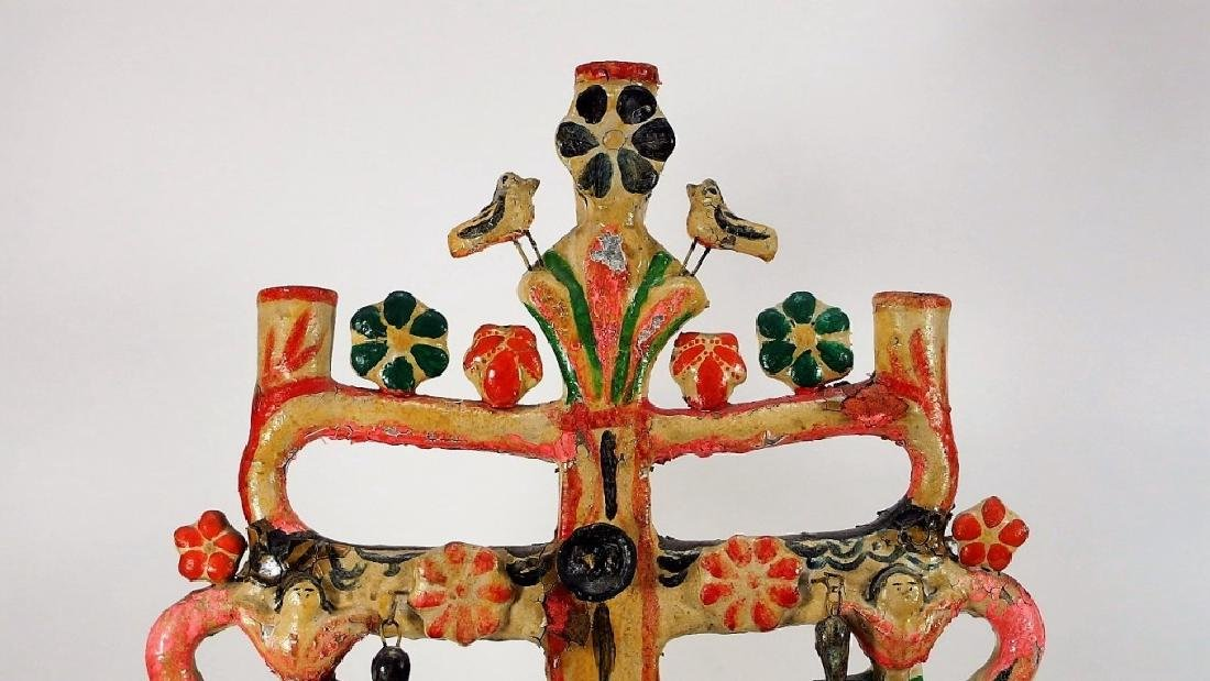 Attrib Aurelio Flores Mexican Pottery Tree of Life - 5