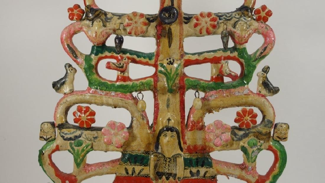 Attrib Aurelio Flores Mexican Pottery Tree of Life - 6