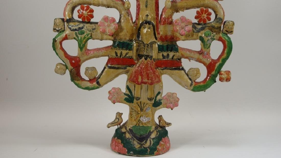 Attrib Aurelio Flores Mexican Pottery Tree of Life - 7