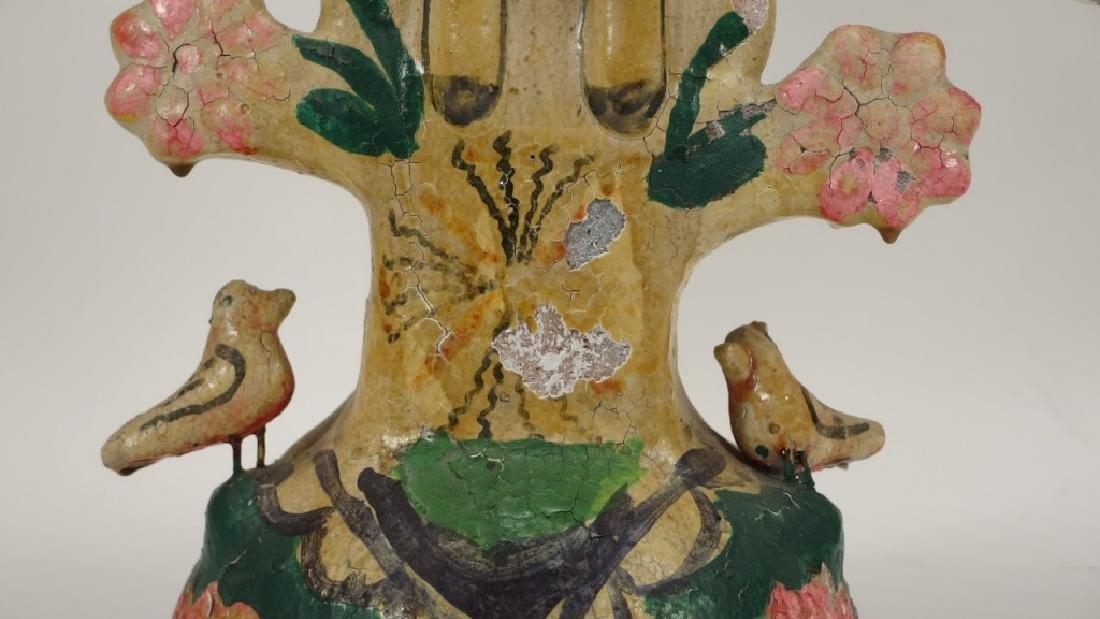 Attrib Aurelio Flores Mexican Pottery Tree of Life - 8