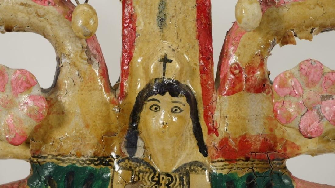 Attrib Aurelio Flores Mexican Pottery Tree of Life - 9
