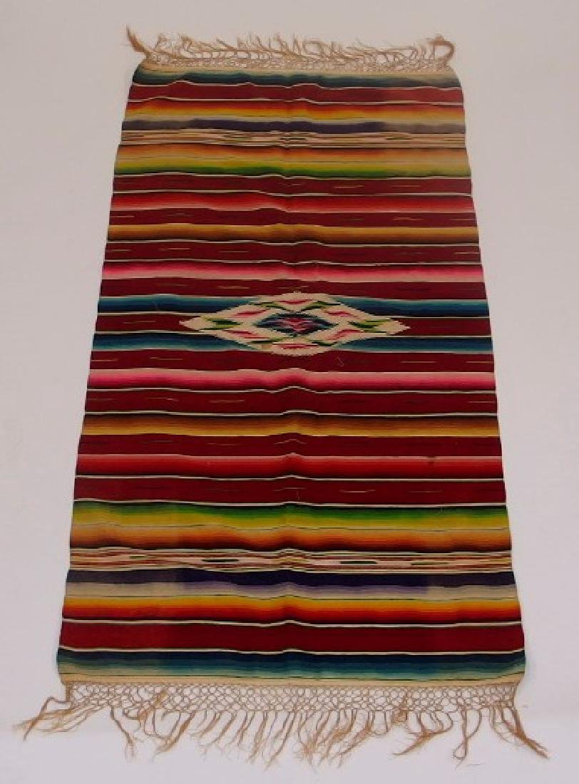 4 Mexican Tribal Geometric Woven Textile - 2