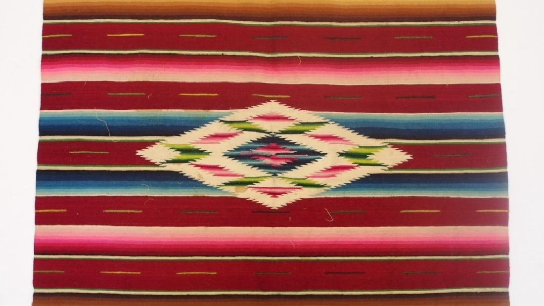 4 Mexican Tribal Geometric Woven Textile - 4