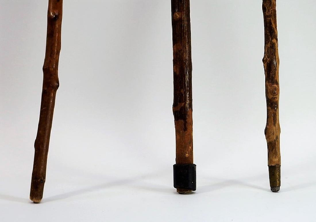 3 Irish Polished Blackthorn Walking Stick Canes - 5