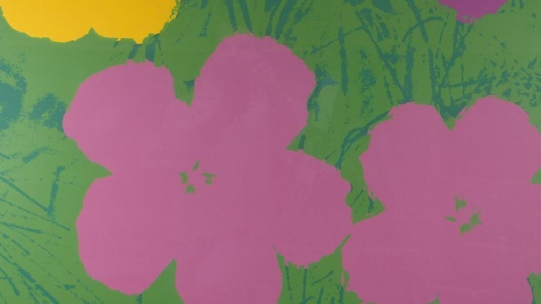 Andy Warhol Screen Print on Paper of Flowers - 2