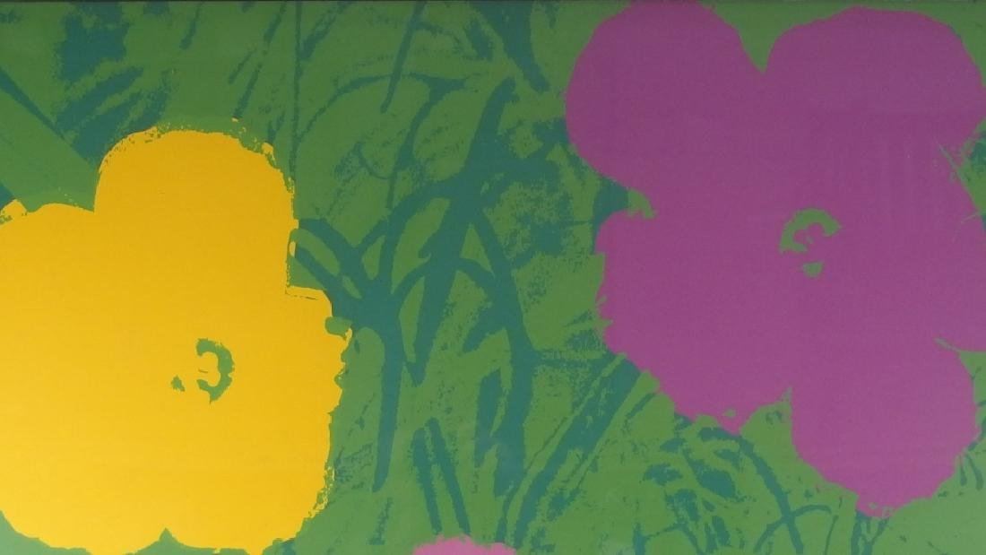 Andy Warhol Screen Print on Paper of Flowers - 3