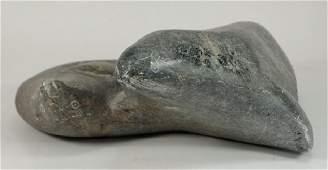Alexeak Povungnituk Canada Inuit Seal Sculpture