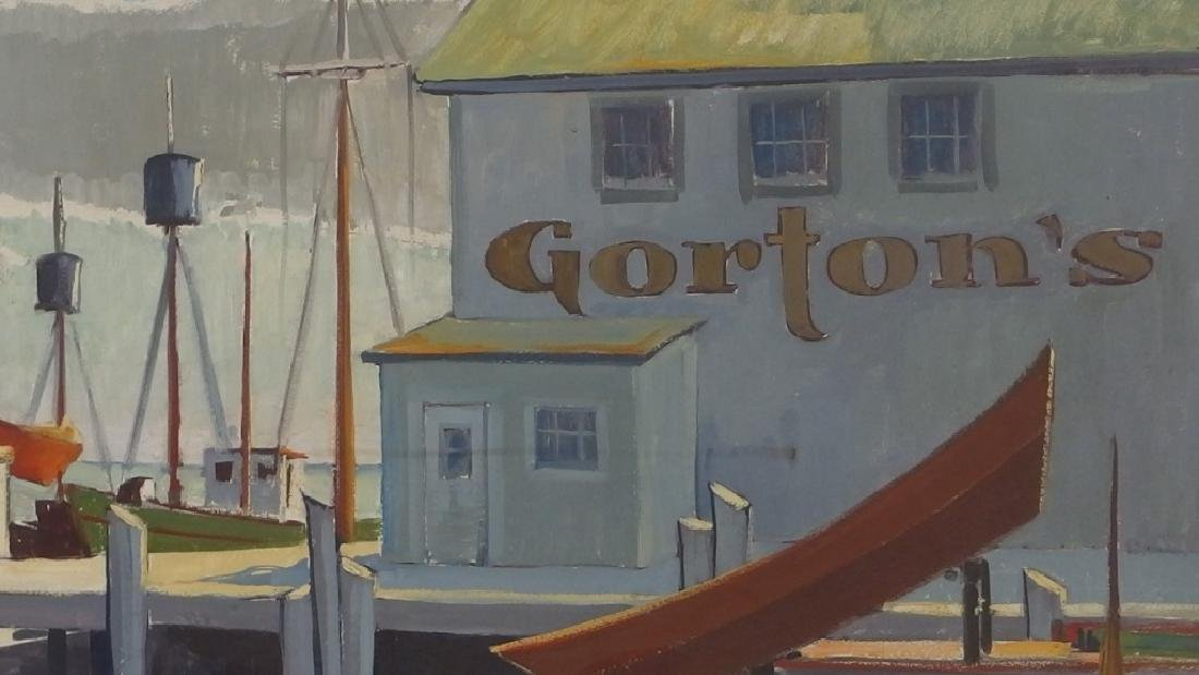 LG Ken Gore Painting of Gorton's Gloucester Mass - 3