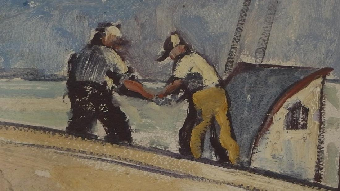 LG Ken Gore Painting of Gorton's Gloucester Mass - 5