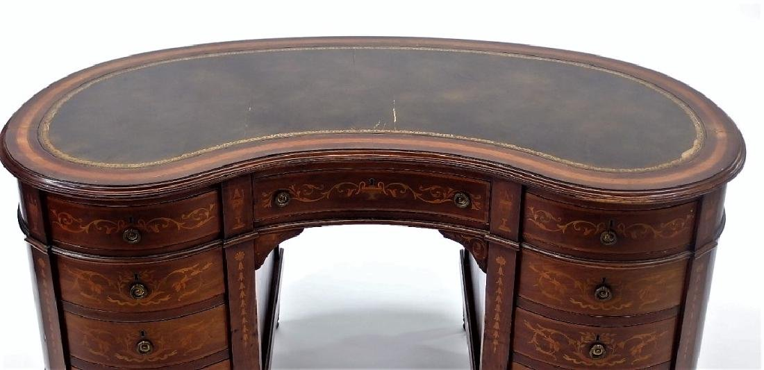 Custom Sheraton Style Inlaid Kidney Shaped Desk - 2