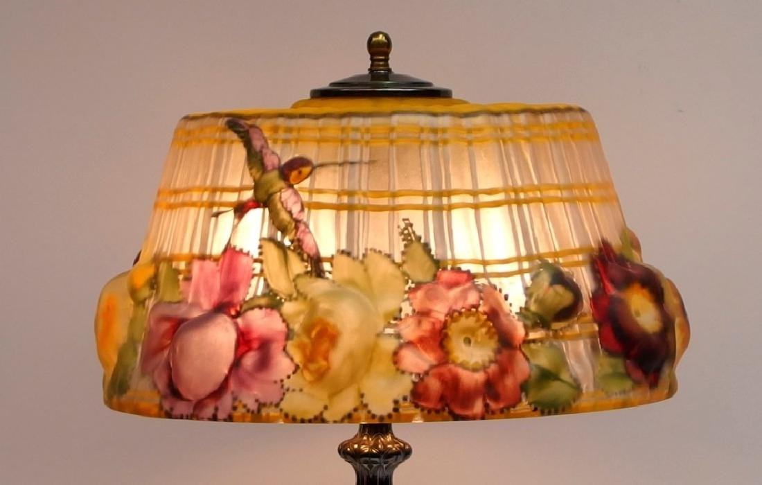 Pairpoint Puffy Hummingbird & Rose Table Lamp - 2