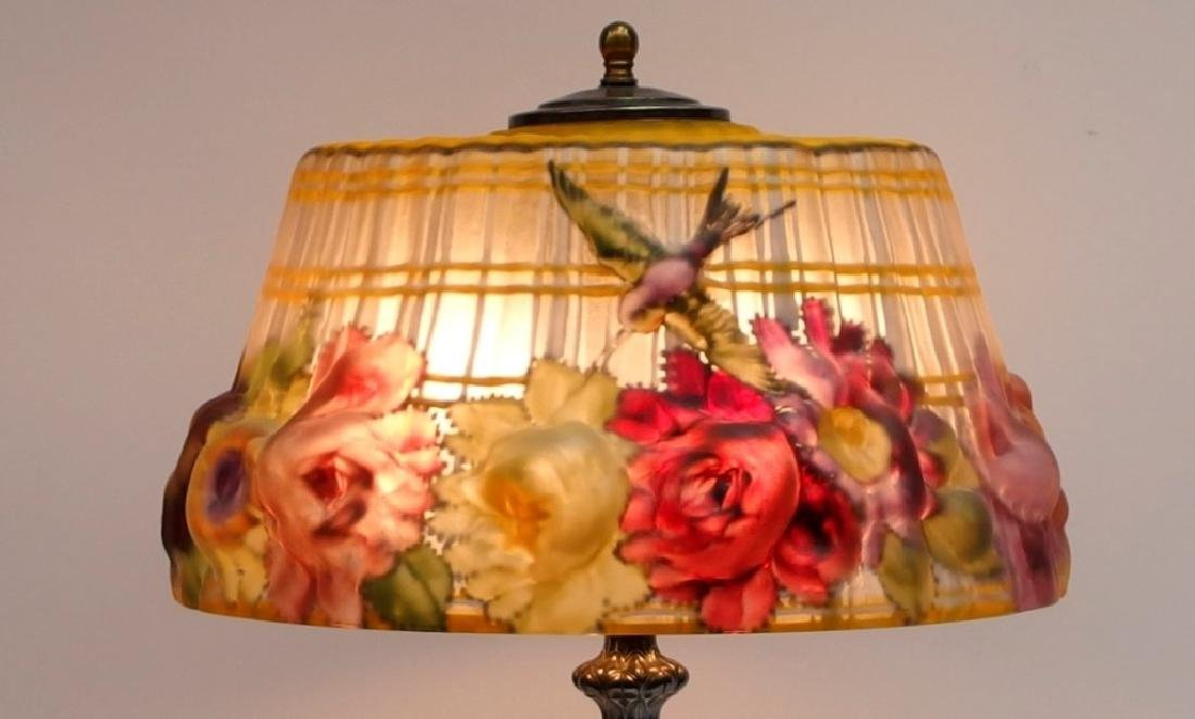 Pairpoint Puffy Hummingbird & Rose Table Lamp - 3