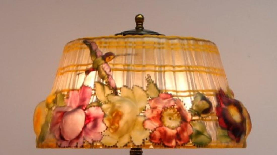 Pairpoint Puffy Hummingbird & Rose Table Lamp - 4