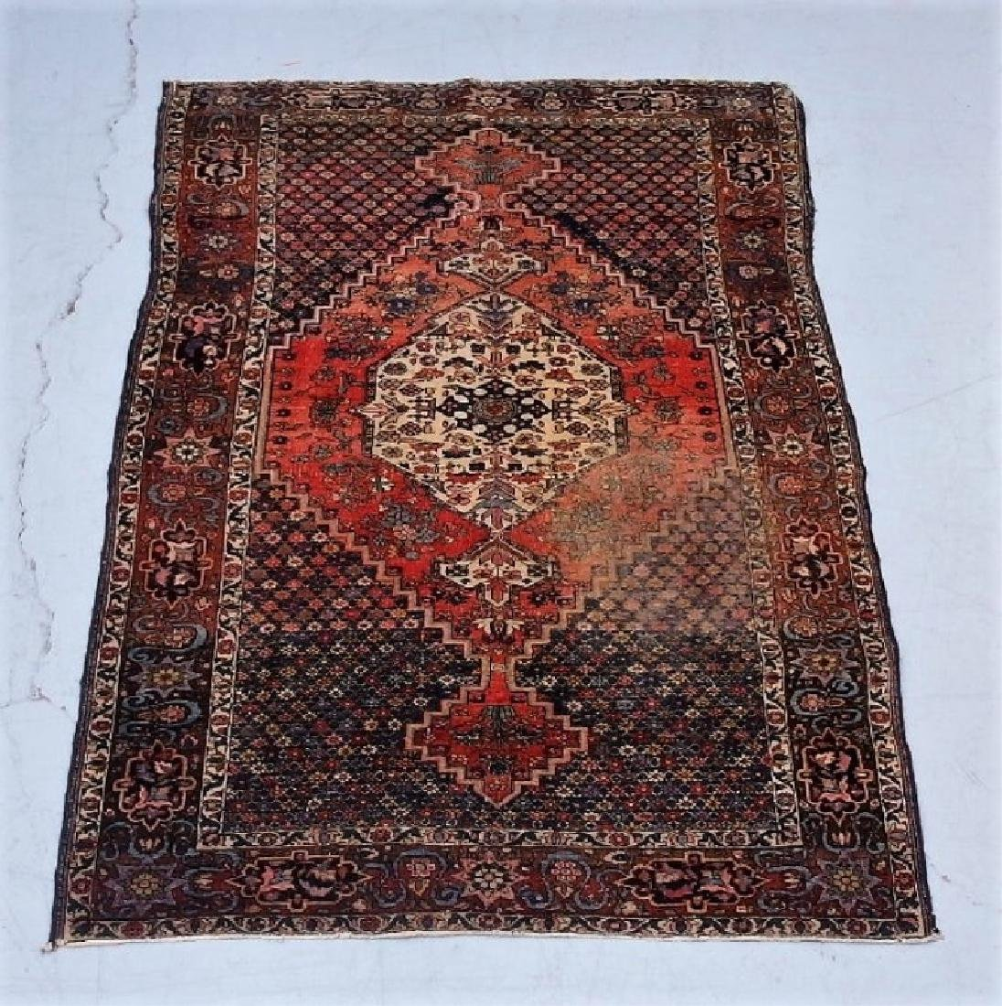 Antique Oriental Persian Geometric Rug