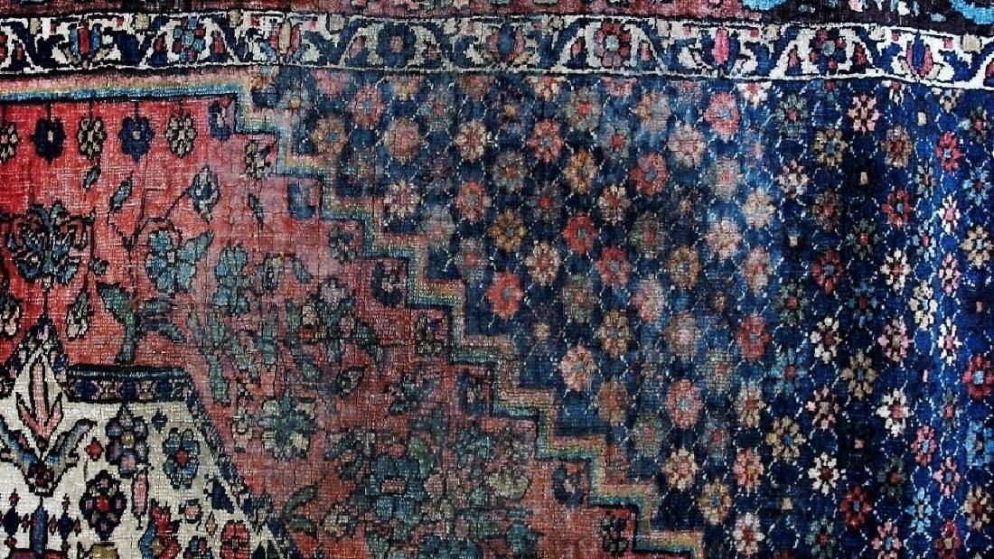 Antique Oriental Persian Geometric Rug - 5