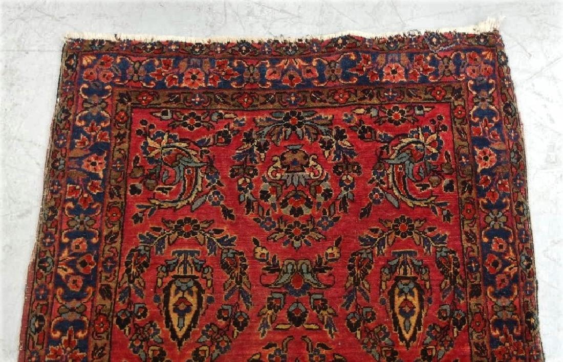 Antique C.1920 Red Sarouk Runner Carpet Rug - 2