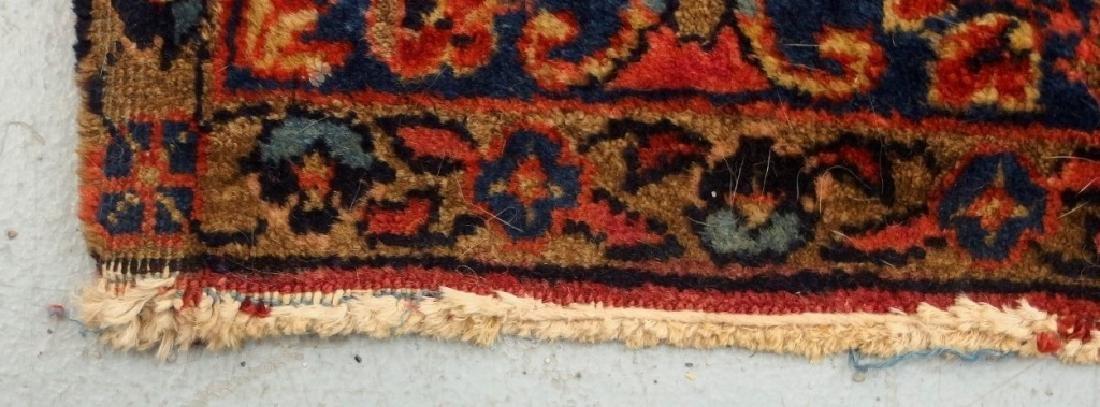 Antique C.1920 Red Sarouk Runner Carpet Rug - 5