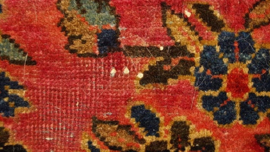 Antique C.1920 Red Sarouk Runner Carpet Rug - 6