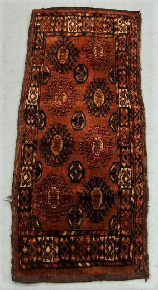 Antique Oriental Persian Esari Torba Wool Rug