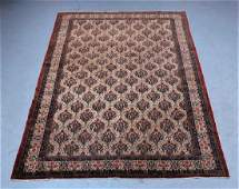 Antique Oriental Persian Ivory Room Size Rug