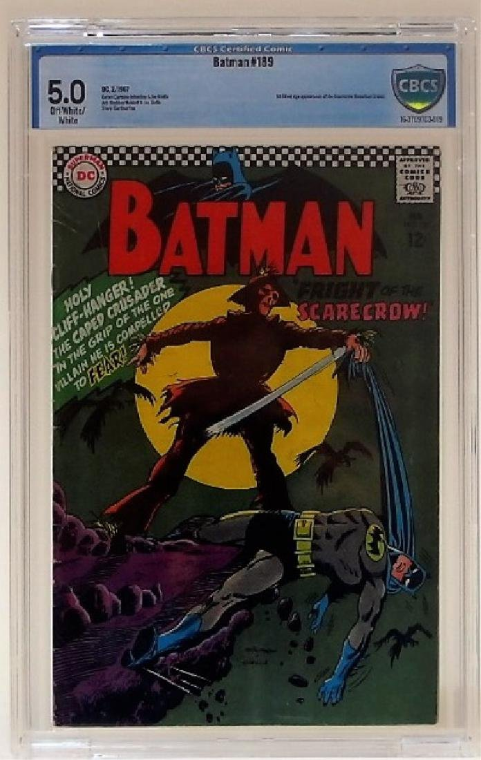 D.C Comics Batman No.189 CBCS 5.0