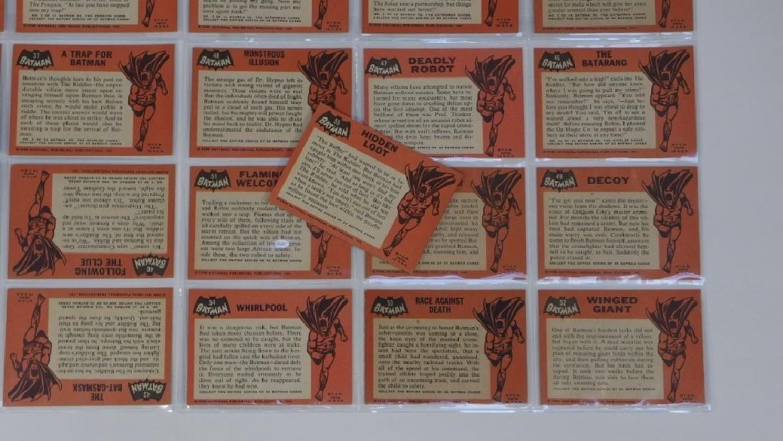 1966 Topps Batman Black Bat Complete Card Set - 8