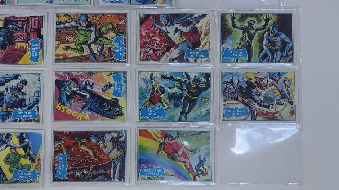 1966 Topps Batman B Blue Bat Trading Card Set - 5