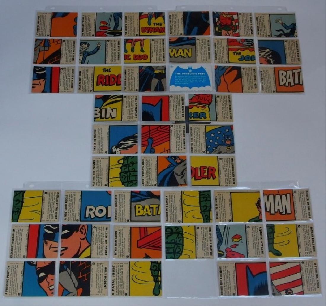 1966 Topps Batman B Blue Bat Trading Card Set - 6