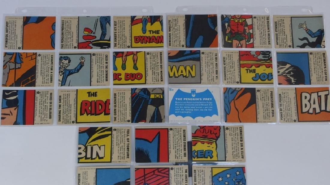 1966 Topps Batman B Blue Bat Trading Card Set - 7
