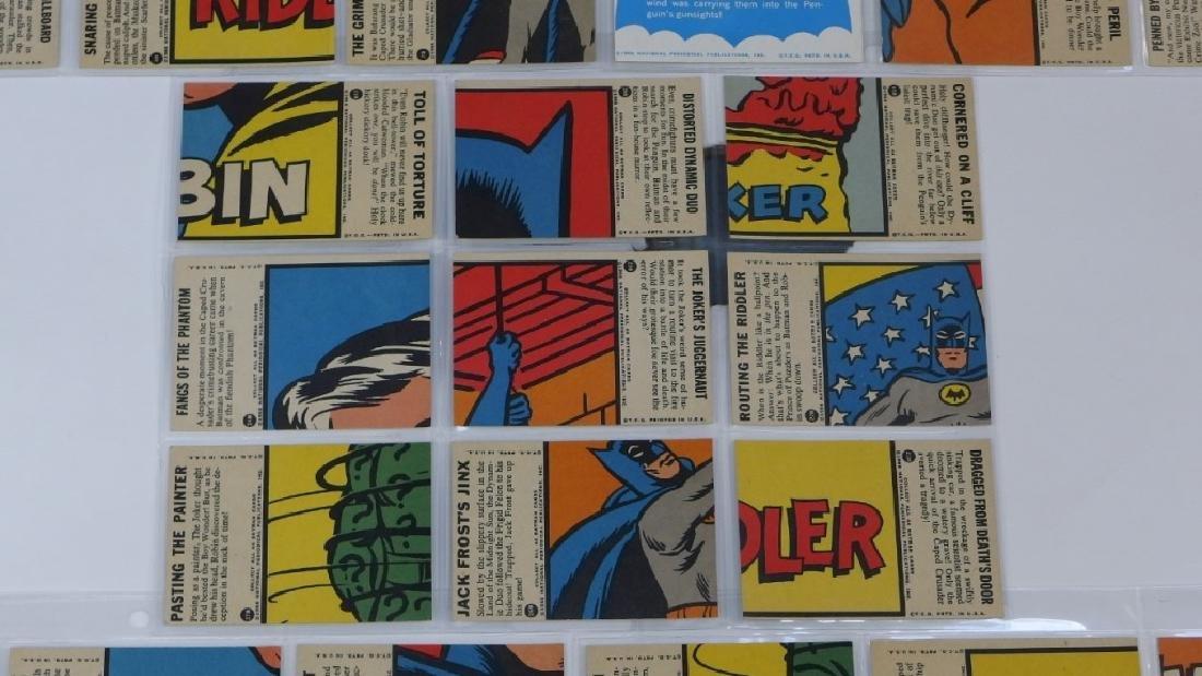 1966 Topps Batman B Blue Bat Trading Card Set - 8
