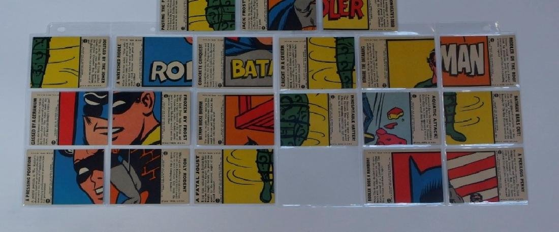 1966 Topps Batman B Blue Bat Trading Card Set - 9