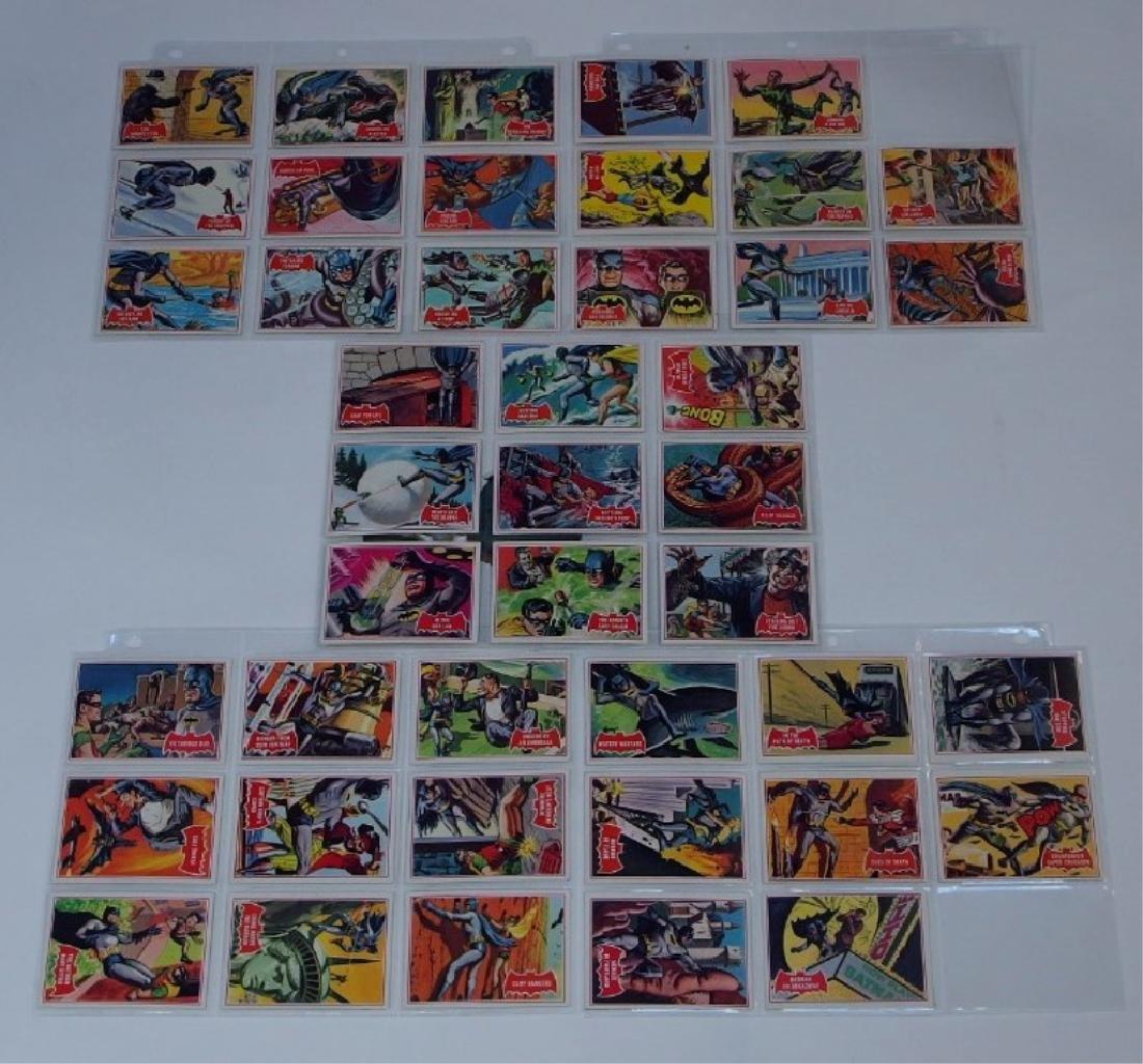 1966 Tops Batman A Red Bat Trading Card Set.
