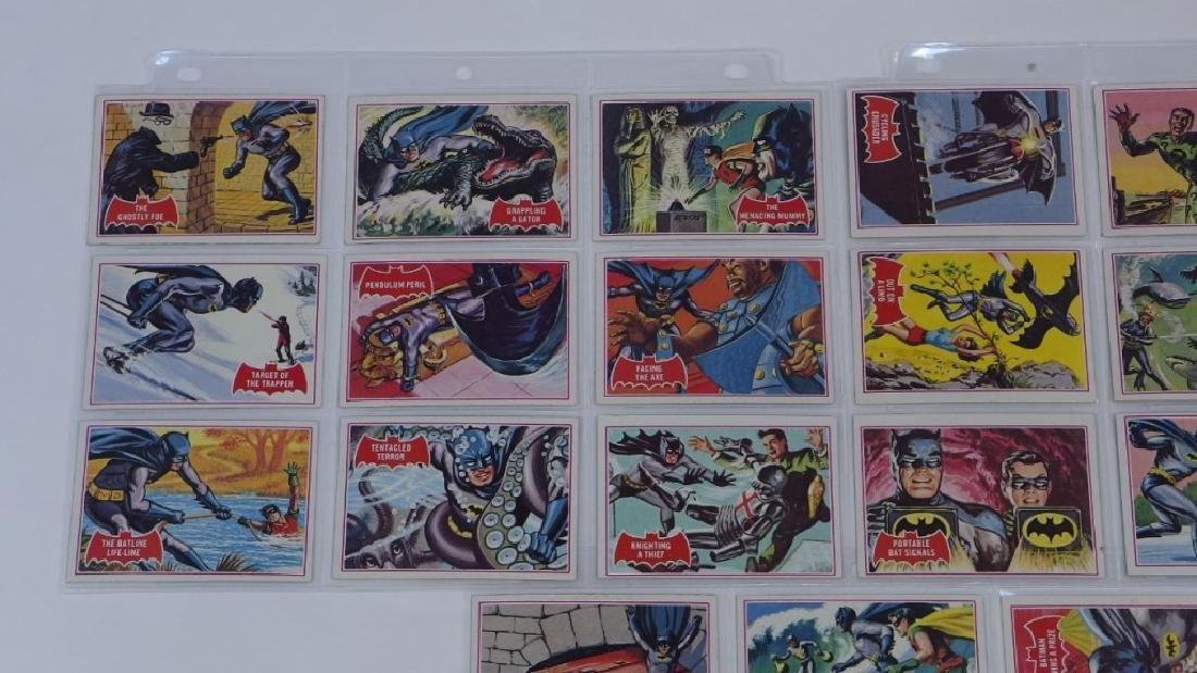 1966 Tops Batman A Red Bat Trading Card Set. - 2