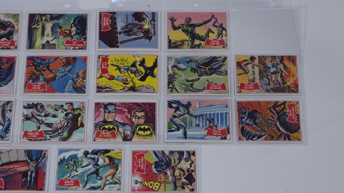 1966 Tops Batman A Red Bat Trading Card Set. - 3