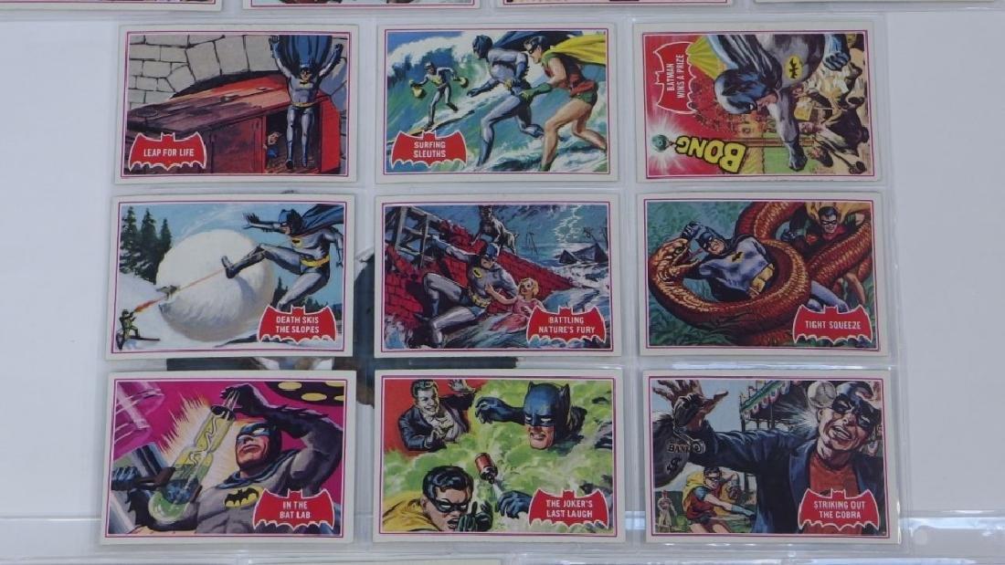 1966 Tops Batman A Red Bat Trading Card Set. - 4