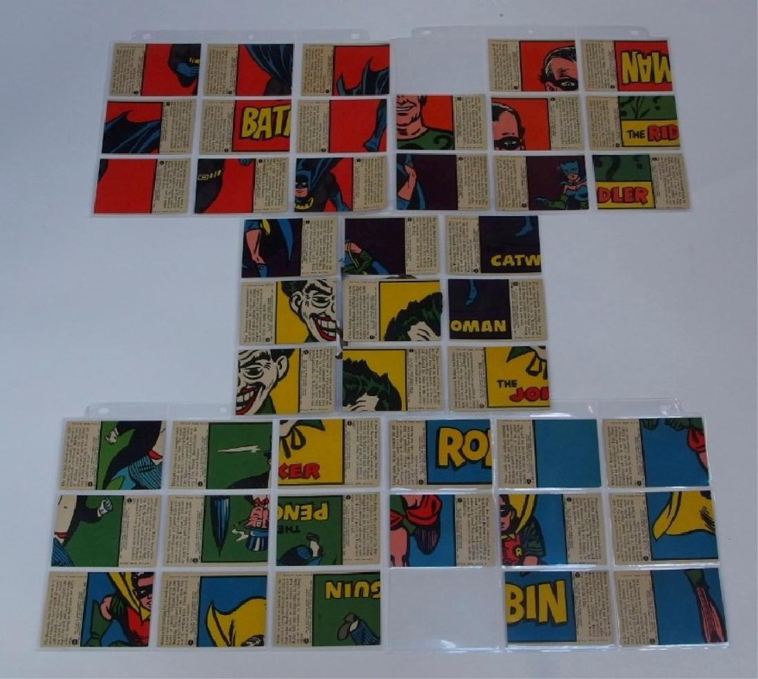 1966 Tops Batman A Red Bat Trading Card Set. - 7
