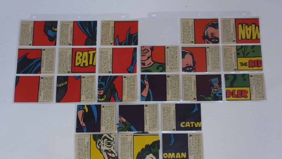 1966 Tops Batman A Red Bat Trading Card Set. - 8