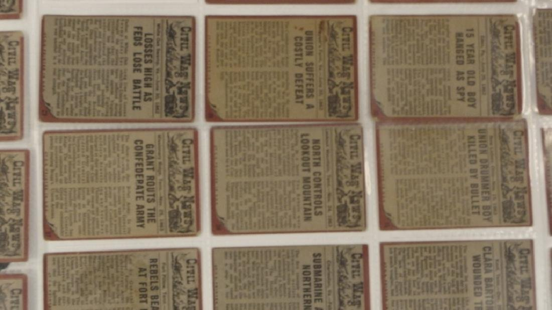 1962 Topps Civil War News Trading Card Set - 7